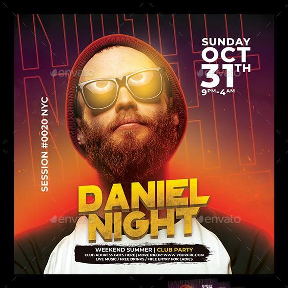 DJ Night Club Flyer