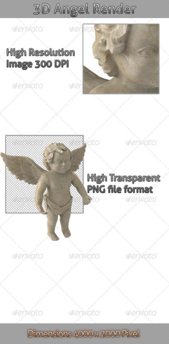 3D Angel Render - 3D Renders Graphics