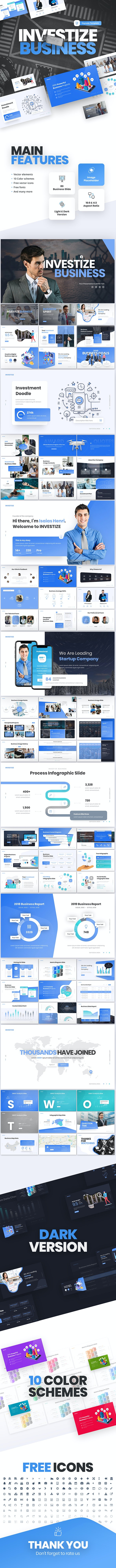 Investize Business Multipurpose Keynote Presentation Template - Business PowerPoint Templates