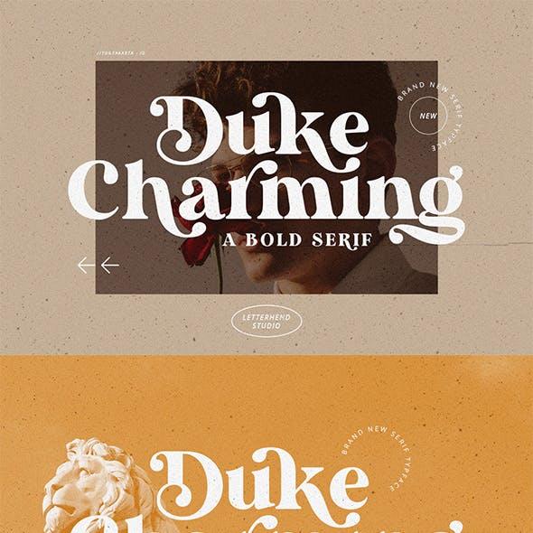 Duke Charming - A Unique Bold Serif