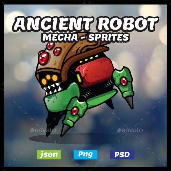 Ancient Robot 2D Game Asset