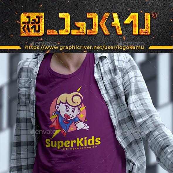 Super Kids Cartoon Logo