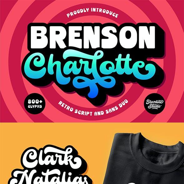 Brenson Charlotte - Retro Font Duo