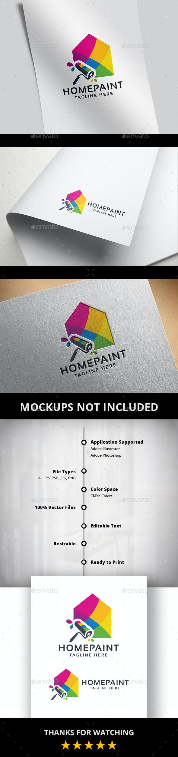 Home Paint Logo - Buildings Logo Templates