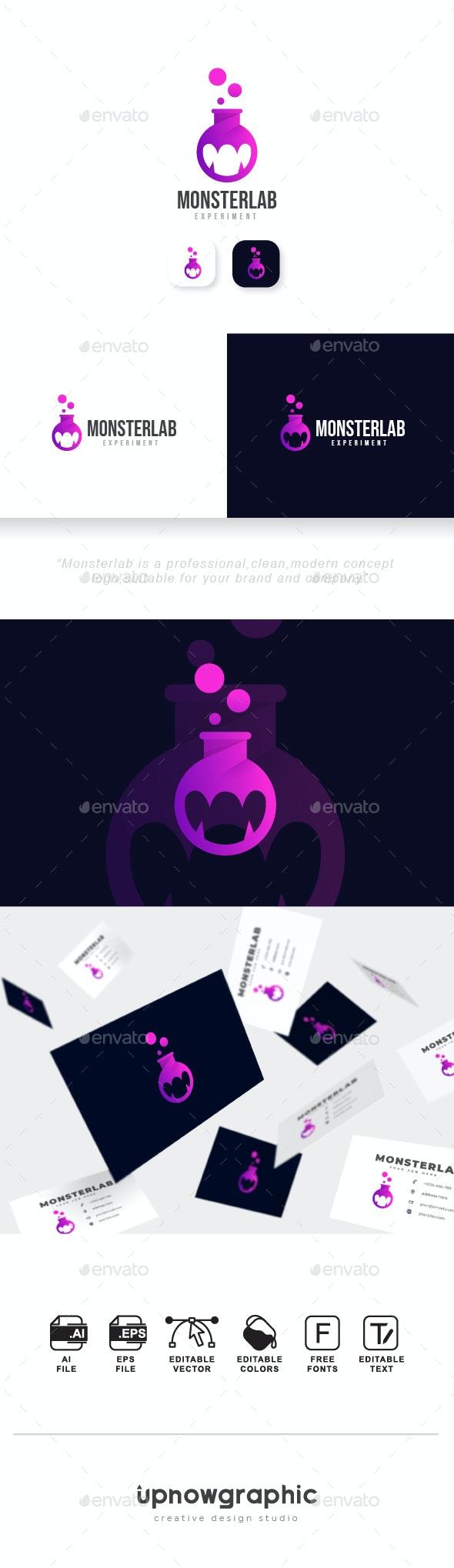 Monster Lab Logo - Symbols Logo Templates