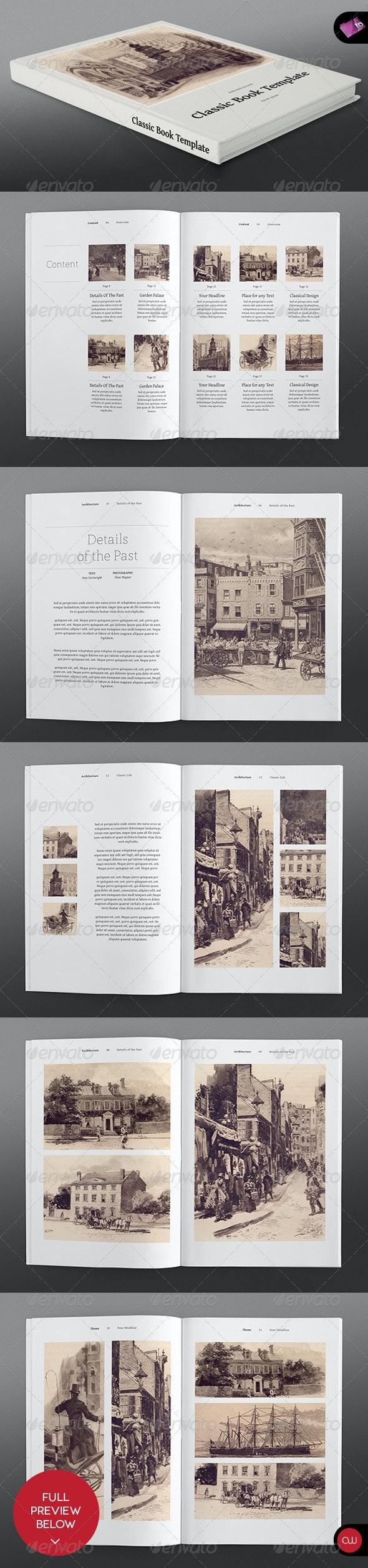 Classic Series • Portrait Book Template - Portfolio Brochures