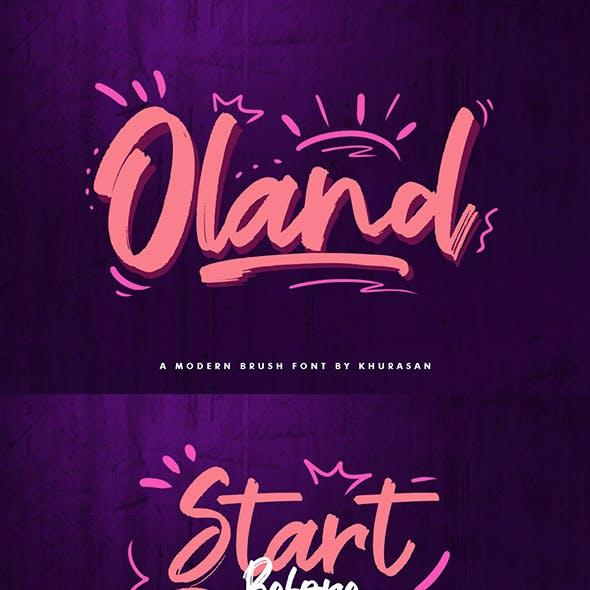 Oland Brush Font