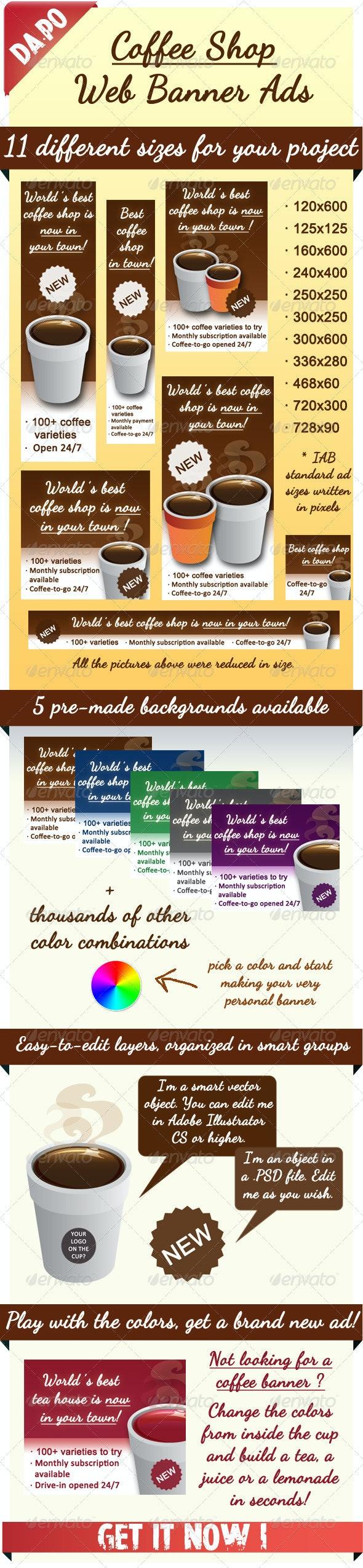 Coffee Shop Web Banner Ads