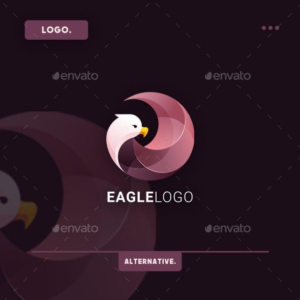 Eagle Gradient Logo Template