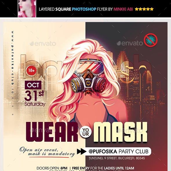 Wear Your Mask Bash Flyer