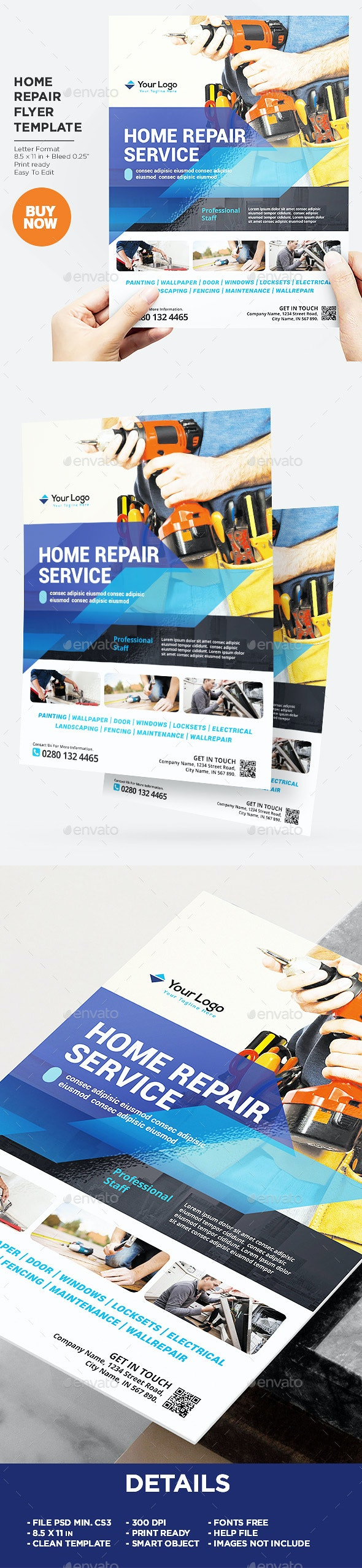 Home Repair Services Flyer - Corporate Flyers