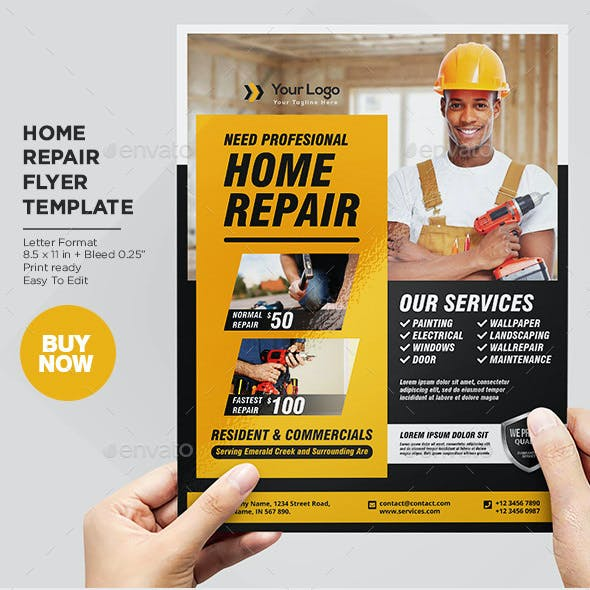 Home Repair Services Flyer Template