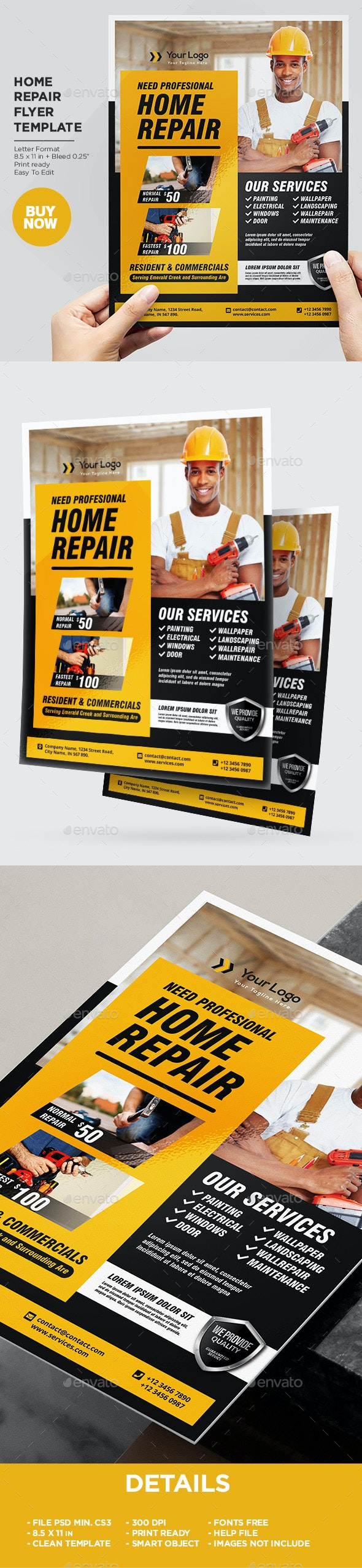Home Repair Services Flyer Template - Corporate Flyers