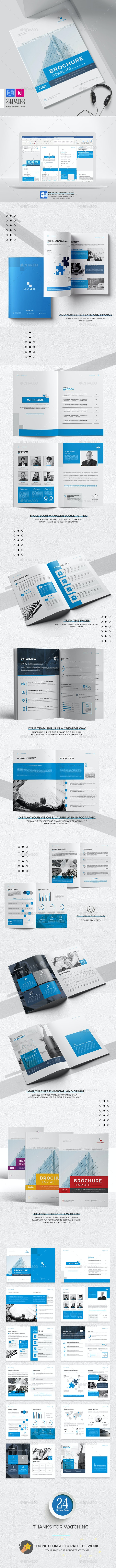 Company Brochure Word Template, 24 Pages - Corporate Brochures