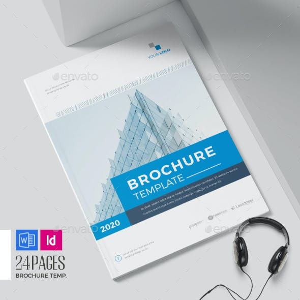 Company Brochure Word Template, 24 Pages