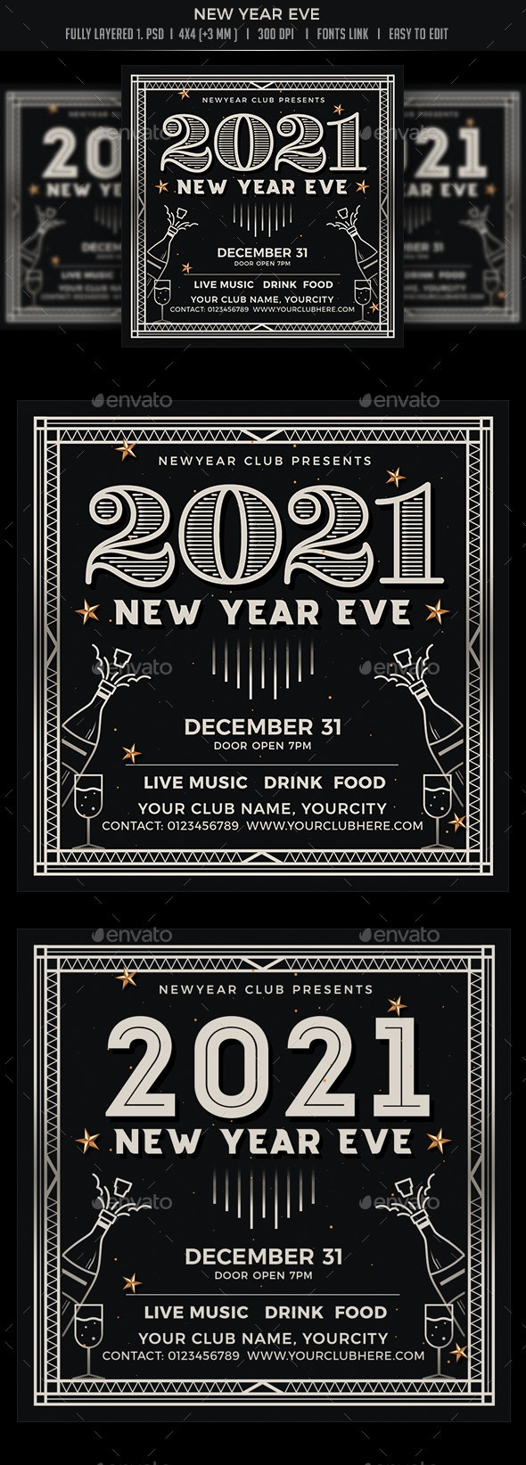 New Year Eve - Events Flyers