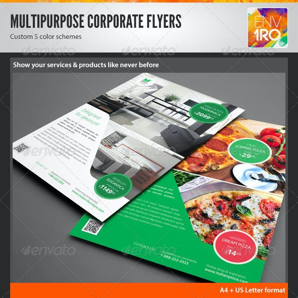 Multipurpose Corporate Flyers, Magazine Ads vol. 3