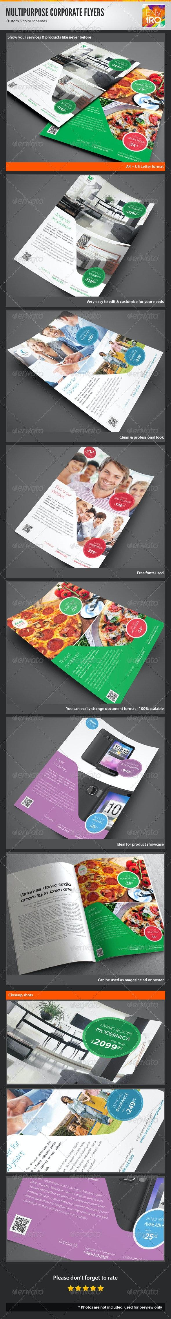 Multipurpose Corporate Flyers, Magazine Ads vol. 3 - Corporate Flyers