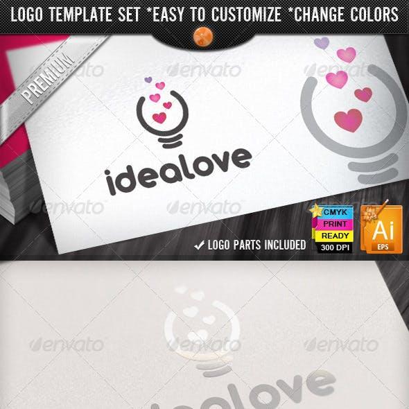 Fresh Bright Think Love Creative Idea Logo Design