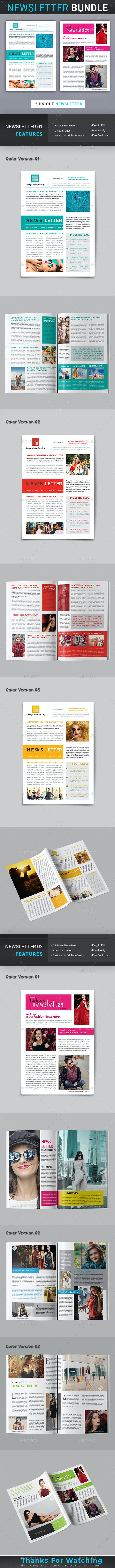 Newsletter Bundle - Newsletters Print Templates