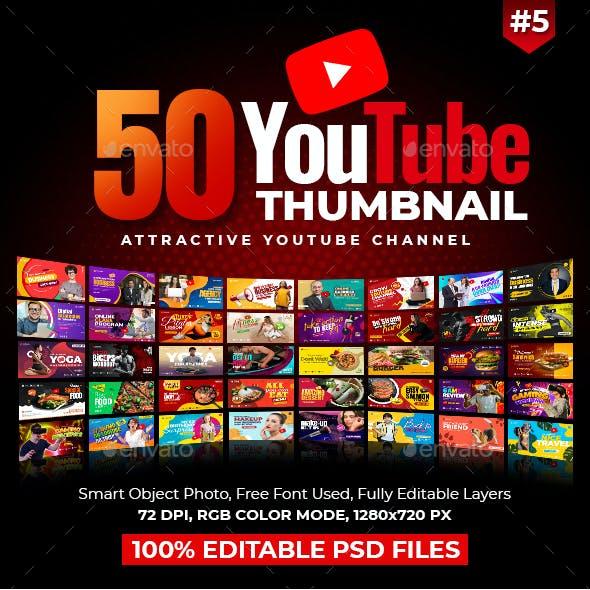 50-Youtube Thumbnail Templates