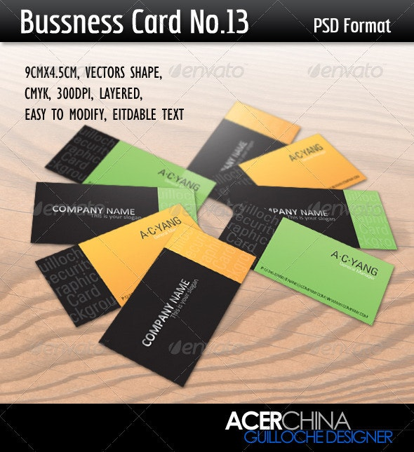 Bussness Card No.13 - Corporate Business Cards