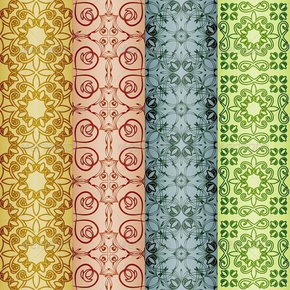 4 Seamless Retro patterns - Patterns Decorative