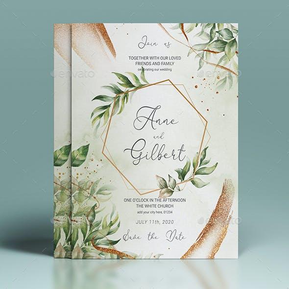 Wedding Invitation & Food Menu Flyer
