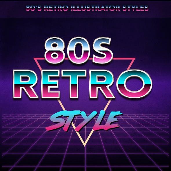Retro 80's Text Effect for Adobe Illustrator V2
