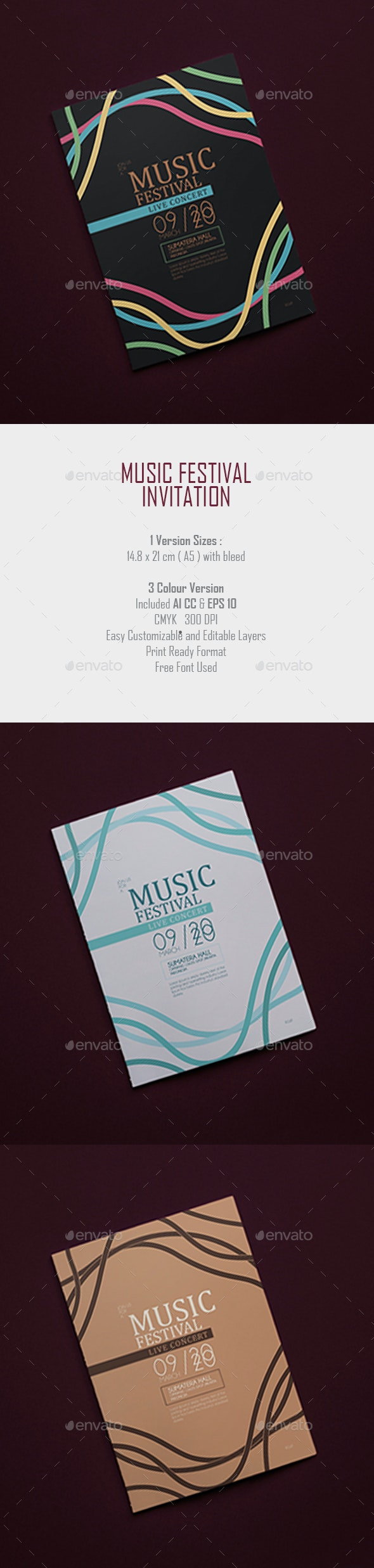 Music Festival Invitation - Events Flyers