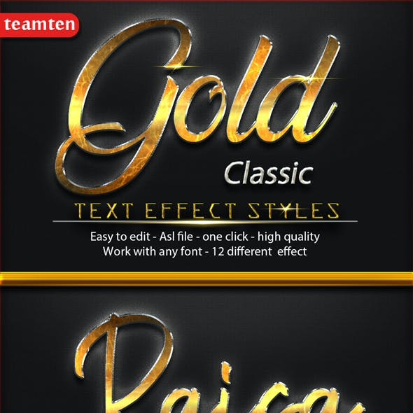 Gold Classic Text Effect Styles