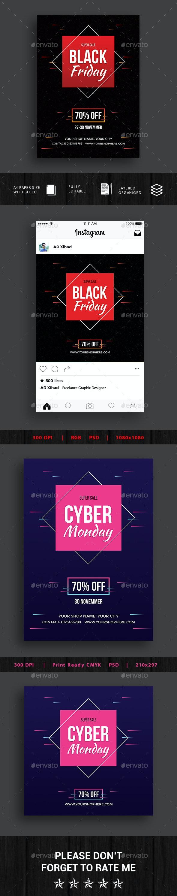 Black Friday Cyber Monday Flyer - Events Flyers