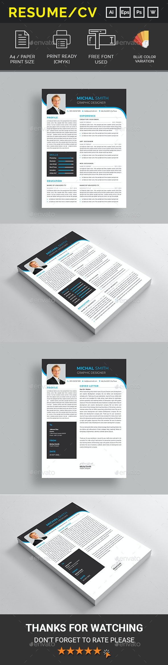 Resume / CV Template - Resumes Stationery