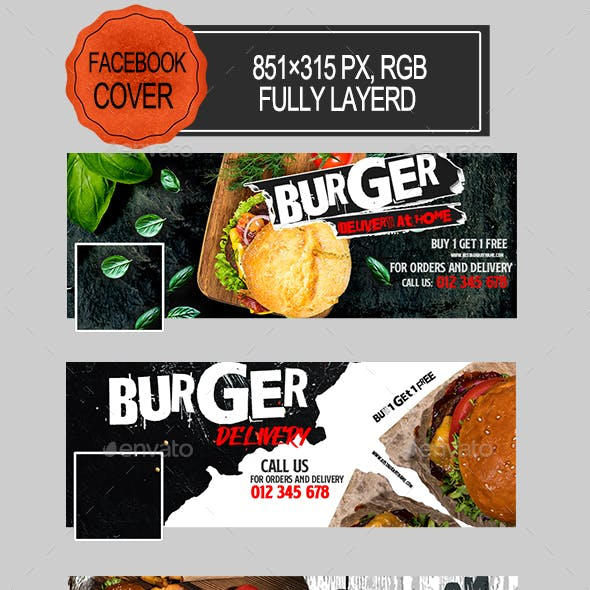 Burger Delivery Facebook Covers