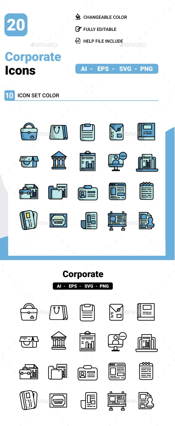 Corporate Icon - Business Icons
