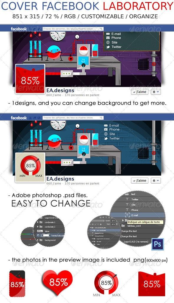 Cover Facebook Laboratory - Social Media Web Elements