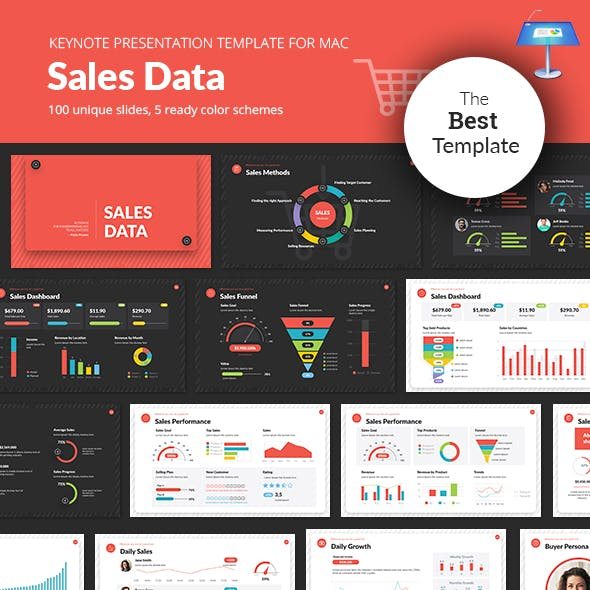Sales Data Keynote Presentation Template