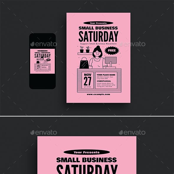 Small Business Saturday Event Flyer Set