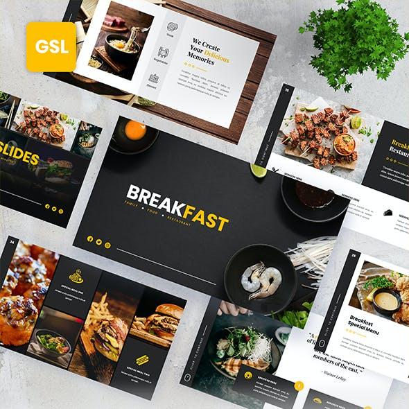 Breakfast - Food Beverages Google Slides Presentation Templates