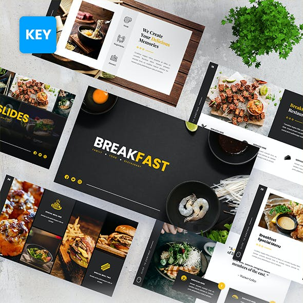 Breakfast - Food Beverages Keynote Presentation Templates