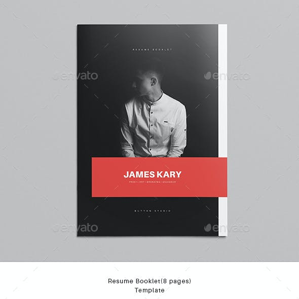 Resume Booklet (8 pages) Template