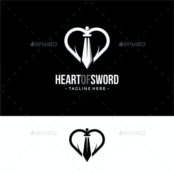 Heart Of Sword Logo Template