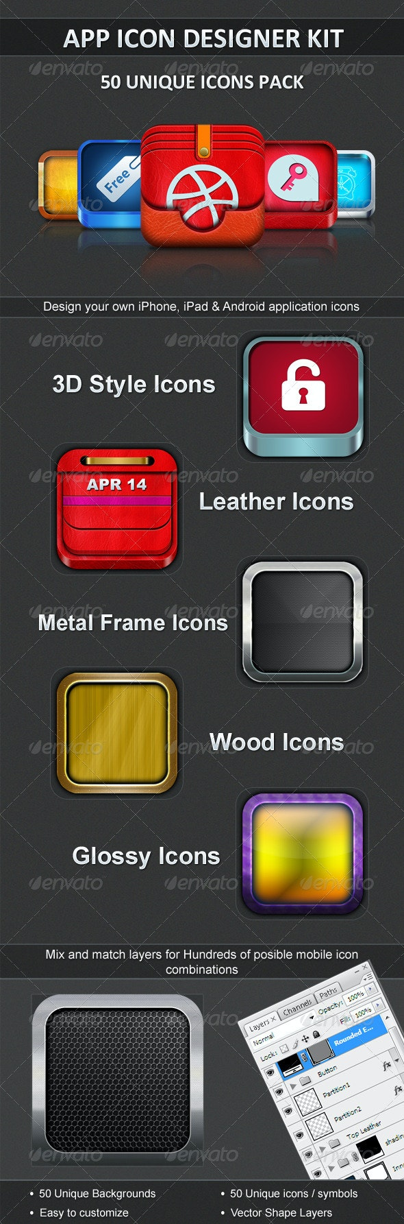 App Icon Designer Kit by Apps400 | GraphicRiver
