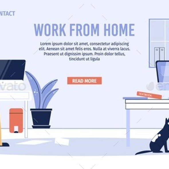 Couple Earn Money From Home Office Landing Page