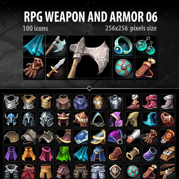 RPG Weapon and Armor 06