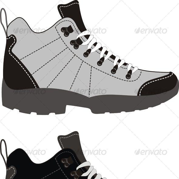 Sports footwear – trekking boots