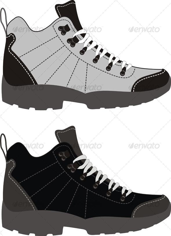 Sports footwear – trekking boots - Sports/Activity Conceptual