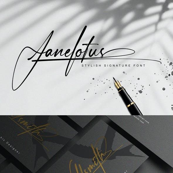Janelotus Signature Font