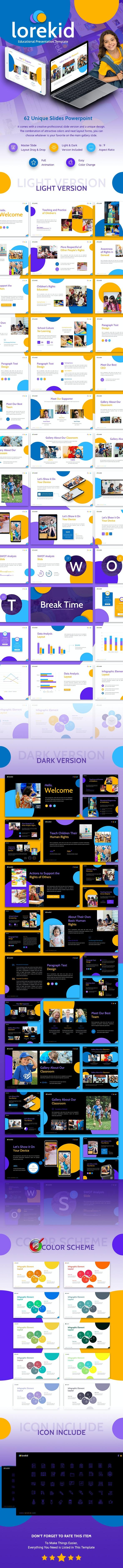 Lorekid Educational Presentation Template - Creative PowerPoint Templates