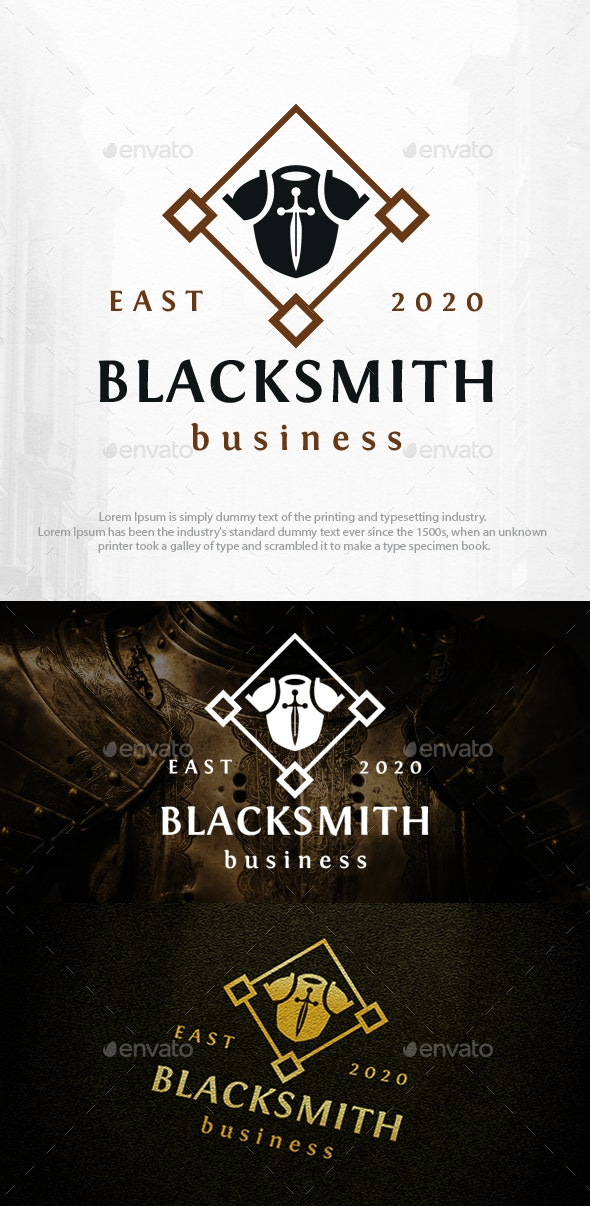 Armor and Sword Logo Template - Crests Logo Templates